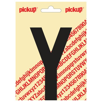 Pickup plakletter Y zwart mat 120 mm