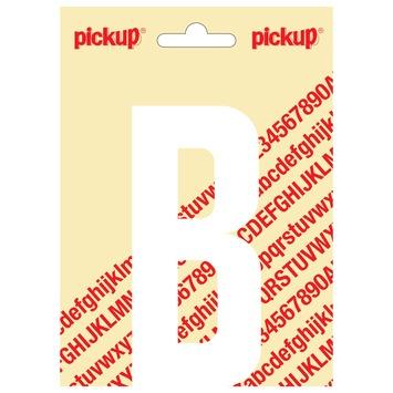 Pickup plakletter B wit mat 120 mm