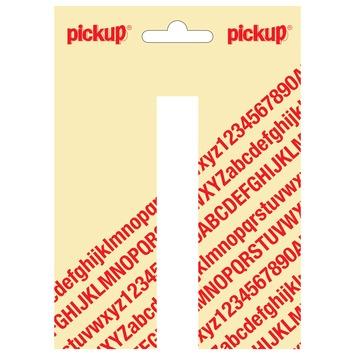 Pickup plakletter I wit mat 120 mm