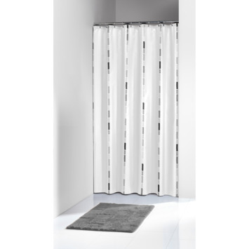 Karwei Break Douchegordijn Textiel Zwart 180x200 cm