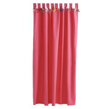 lief kant en klaar gordijn roze met strikjes 1090 180 x 140 cm