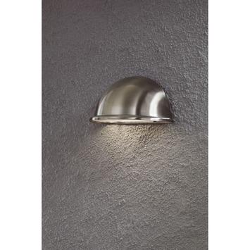 Konstsmide buitenlamp Torino flush RVS 20 cm