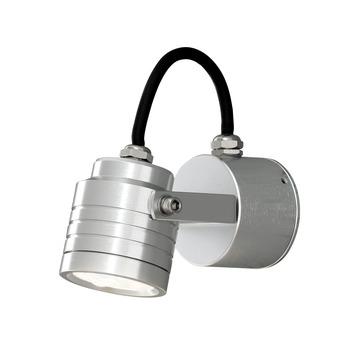 Konstsmide Monza wandlamp kantelbaar geborsteld aluminium