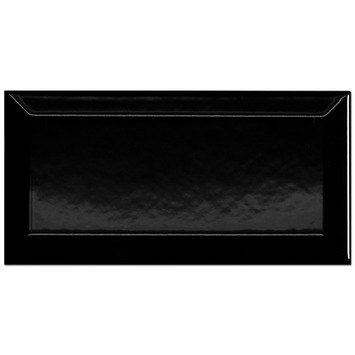 Wandtegel Metro zwart 10x20 cm