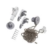 Kettingmechanisme rolgordijn zilver/alu 160 cm
