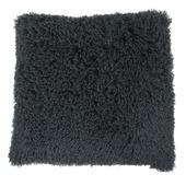 Kussen curly donkergrijs 45x45 cm