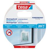 Tesa Montagetape voor Transparant & Glas 20 kg/m