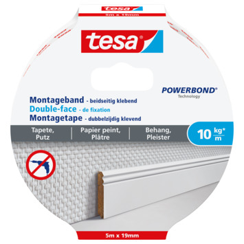 Tesa Montagetape voor Behang & Pleisterwerk 10 kg/m