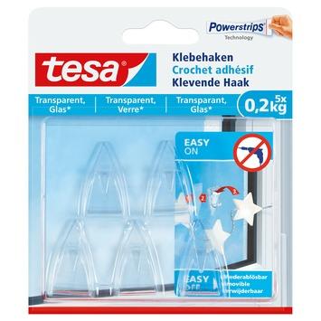 Tesa Klevende Haken voor Transparant & Glas 0,2 kg