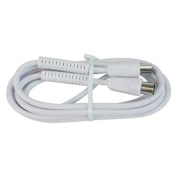 Q-Link Coax Kabel 3CV2 HF 1 Meter Stekker Recht Wit