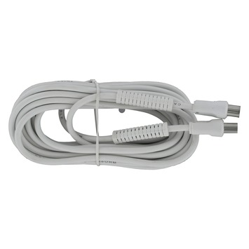 Q-Link Coax Kabel 5 Meter Stekker Recht Wit