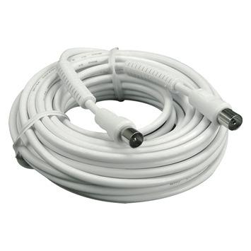 Q-Link coax kabel 3CV2 HF 10 meter stekker rechtwit