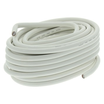 Q-Link coax kabel 50 meter wit kabelkeur