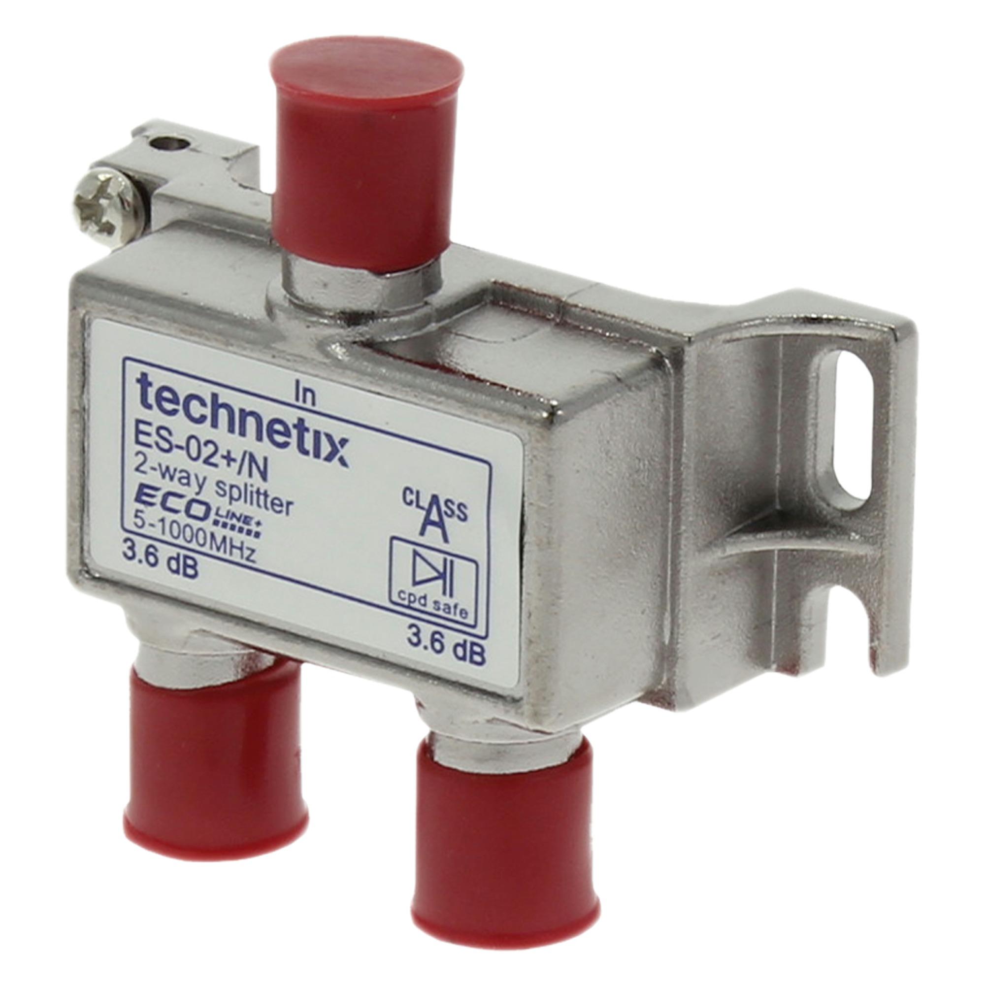 Q-Link coax F-splitter 2-weg-3F-connector kabelkeur
