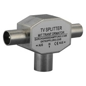 Q-Link coax splitter tv metaal 1 female/2 male