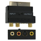 Q-Link scart adapter/schakelaar scart/3XRCA/SVHS