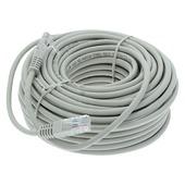Q-Link UTP kabel CAT5E AWG26 2RJ45 20 meter grijs