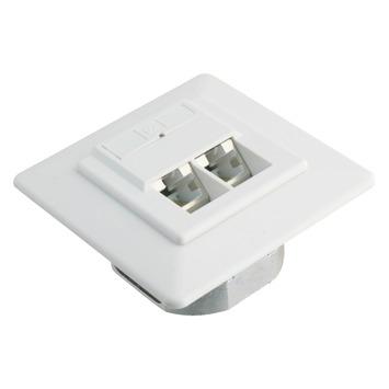 Q-Link UTP stopcontact inbouw dubbelvoudig 8 polig RJ45