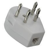 Q-Link telefoon stekker tweeweg modulair 4 polig wit