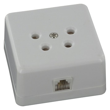 Q-Link telefoon stopcontact opbouw modulair 4 polig wit