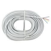 Q-Link telefoonkabel rond 4x0.5 20 meter wit