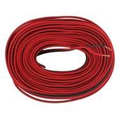 Q-Link luidsprekersnoer 2x0.75mm 25 meter rood/zwart