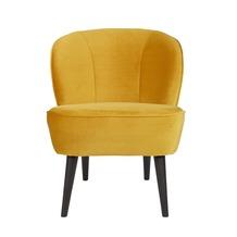 WOOOD fauteuil Sara fluweel okergeel