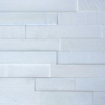 Wandbekleding wowood plakhout wit dekkend mix ca 1 15 m2 for Behang per m2