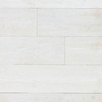 Wandbekleding WoWood plakhout steigerhout oud wit (ca. 1,47 m2)