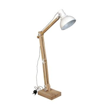 Vloerlamp Edward hout wit