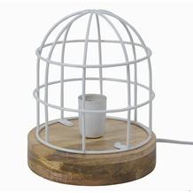 Tafellamp Carandora glans wit