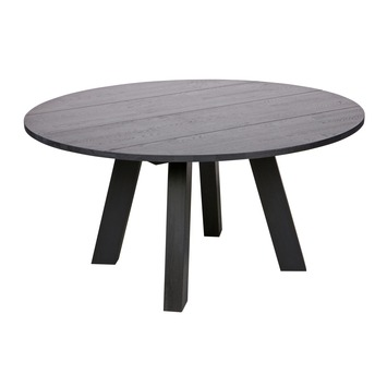 WOOOD tafel Rhonda XL blacknight Ø150x75 cm