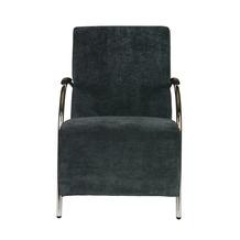 WOOOD fauteuil Halifax ribcord staalblauw