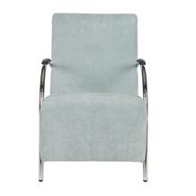 WOOOD fauteuil Halifax ribcord poederblauw