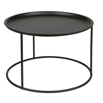 WOOOD bijzettafel Ivar L zwart  Ø56x37,5 cm