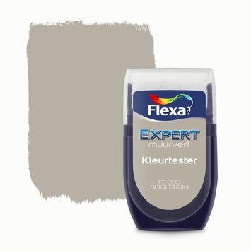 Flexa Expert muurverf Kleurtester Beigebruin mat 30ml