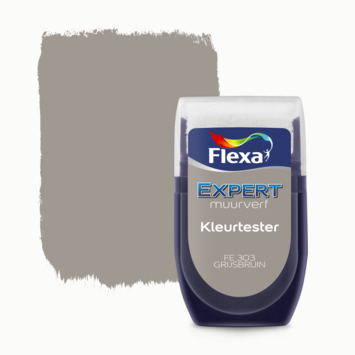 Flexa Expert muurverf kleurtester grijsbruin 303 30 ml