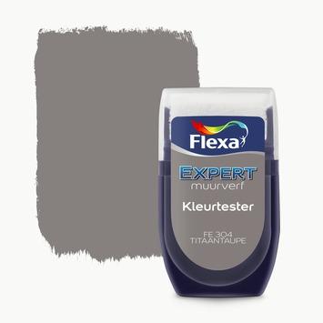 Flexa Expert muurverf kleurtester titaantaupe 304 30 ml