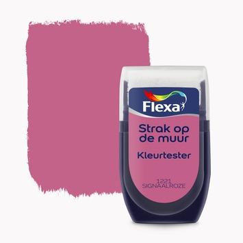 Flexa Strak op de muur kleurtester signaalroze 30 ml