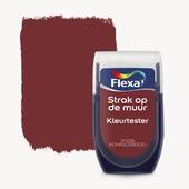 Flexa Strak op de muur kleurtester koraal rood 30 ml