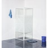 Riga douchecabine draaideur met zijwand 80x80x185 cm wit