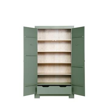 Woood bureau nikki grenen jade groen 75x140x62 cm kopen for Karwei kasten