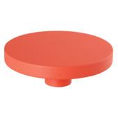Kapstok knop oranje 100 mm