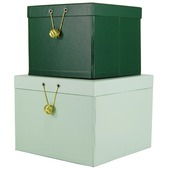 Opbergset Joy donker groen/mint groen