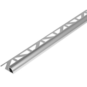 Tegelprofiel kwartrond aluminium wit 8 mm 300 cm