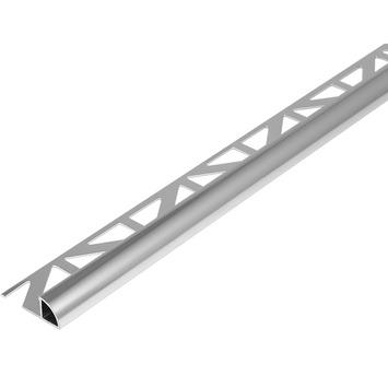 Tegelprofiel kwartrond aluminium zilver 10 mm 300 cm