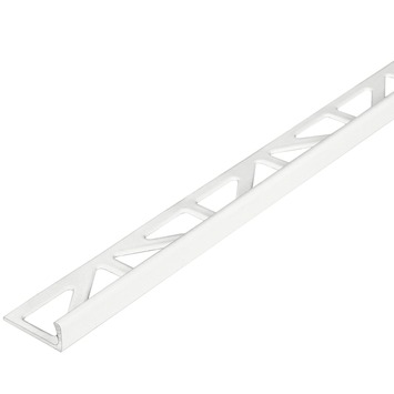 Tegelprofiel haaks aluminium wit 10 mm 300 cm
