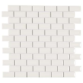 Mozaïektegel Mini Metro wit 32,2x29,8 cm 4 stuks