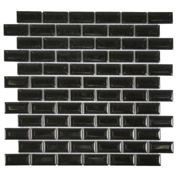 Mozaïektegel Mini Metro zwart 32,2x29,8 cm 1 stuks