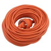 Verlengsnoer 20m 2x1,0mm2 Oranje